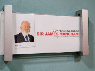 The M3 Conference Room Officially Named after Sir James Mancham