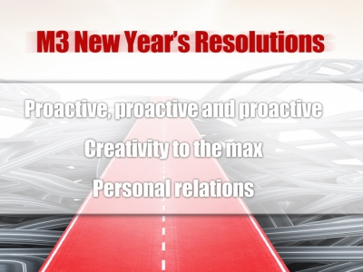 M3 New Year's Resolutions