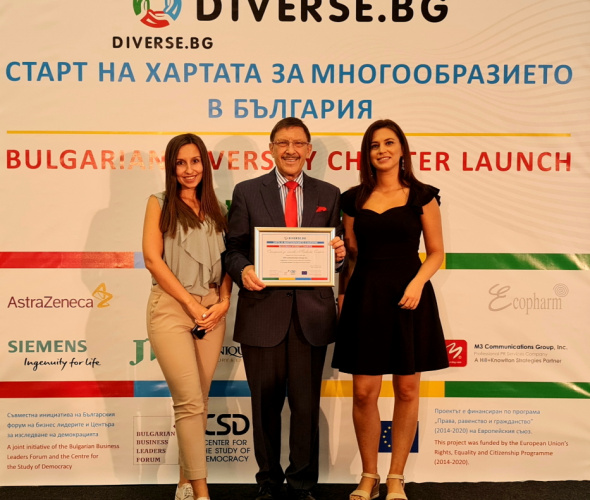 M3 Communications Group, Inc. among the Founders of the First Bulgarian Diversity Charter