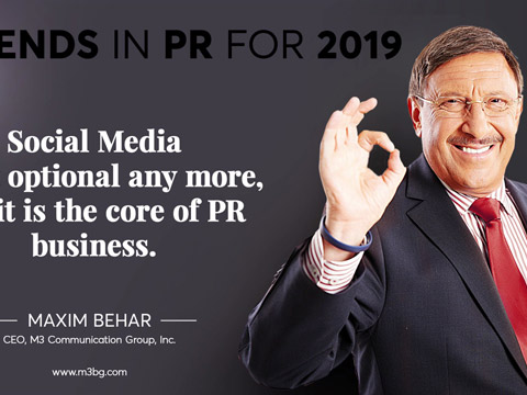 11 Most important global trends in PR for 2019